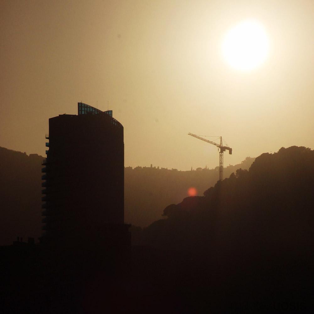 Sunset over Tour Odeon, Monaco
